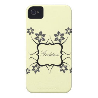 Goddess Floral BT BB Bold Case, Dark Gray iPhone 4 Case-Mate Cases
