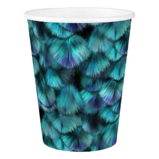 Goddess Isis Blue Feathers Paper Cup