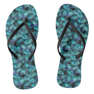 Goddess Isis Blue Feathers Thongs