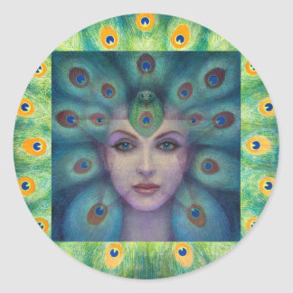 Goddess Isis the Seer Round Sticker