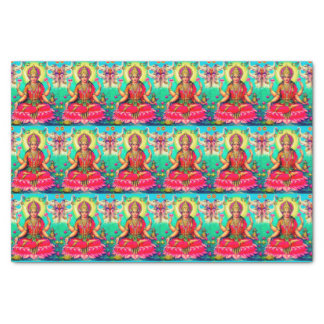 Goddess Lakshmi bright tissue paper