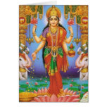 goddess-Lakshmi Greeting Cards