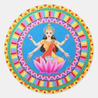 Goddess Lakshmi mandala Classic Round Sticker