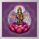Goddess Lakshmi - wealth blessing mandala Poster
