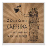 Goddess of Caffeine funny coffee gift