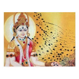 Goddess of Honey Bees Ancient Spiritual FineArt Postcard