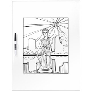 Goddess of Liberty Adult Coloring Dry Erase Board