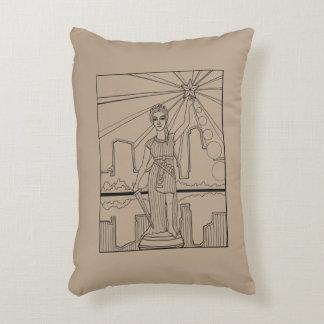 Goddess Of Liberty Line Art Design Decorative Cushion