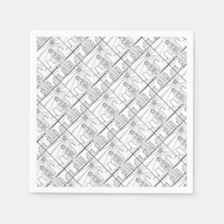Goddess Of Liberty Line Art Design Paper Napkins