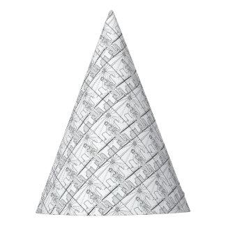 Goddess Of Liberty Line Art Design Party Hat