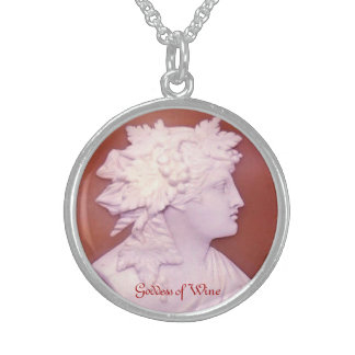 Goddess of Wine Sterling Silver Necklace