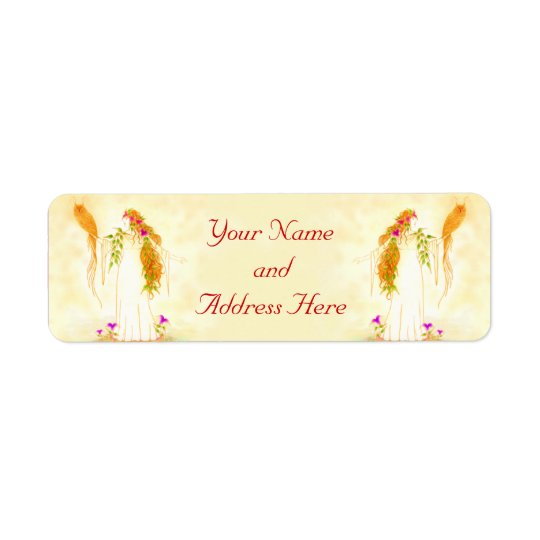 Goddess of Wisdom Return Address Label