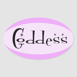 Goddess Oval Sticker