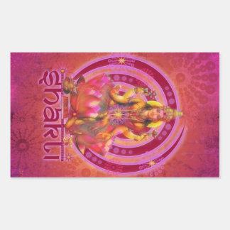 Goddess SHAKTI / LAKSHMI Rectangular Sticker