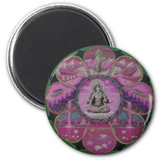 Goddess Tara Mandala 6 Cm Round Magnet