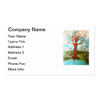 Goddess Tree Figure in Autumn Spiritual Painting Double-Sided Standard Business Cards (Pack Of 100)