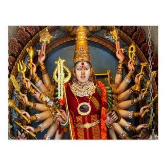 Goddess with many arms postcard