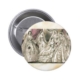 Godey's Ladies Book Victorian Fashion Plate Weddin 6 Cm Round Badge
