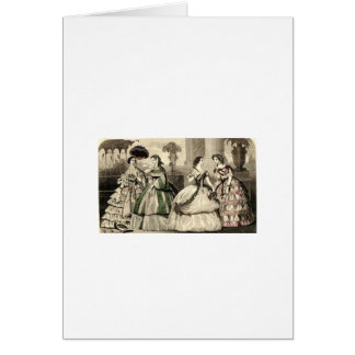 Godey's Ladies Book Victorian Fashion Plate Weddin Card