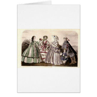 Godey's Ladies Book Victorian Fashion Plate Weddin Greeting Card