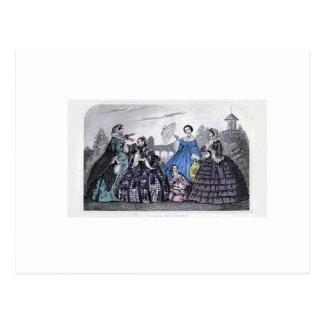 Godey's Ladies Book Victorian Fashion Plate Weddin Postcard
