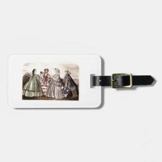 Godey's Ladies Book Victorian Fashion Plate Weddin Tag For Luggage