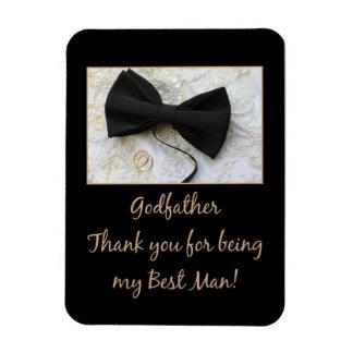 Godfather best man thank you rectangular photo magnet