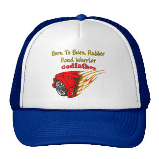 Godfather Burn Rubber Racing Gifts Trucker Hat