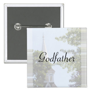 Godfather Button/pin 15 Cm Square Badge