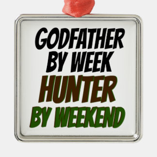 Godfather Hunter Silver-Colored Square Decoration