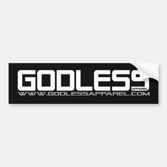 Godless Apparel Bumper Sticker