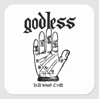 Godless Atheist Square Sticker