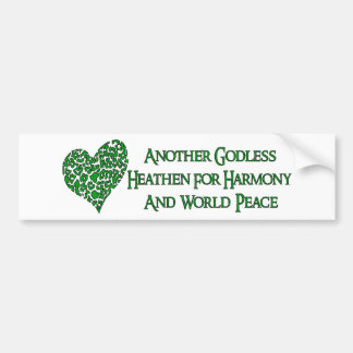 Godless For World Peace Bumper Stickers