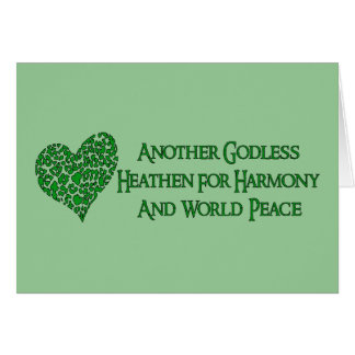 Godless For World Peace Card