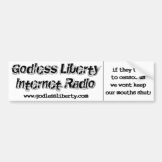 "Godless Liberty ""Censor Us"" Bumper Sticker"