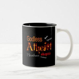 Godless Words Two-Tone Coffee Mug