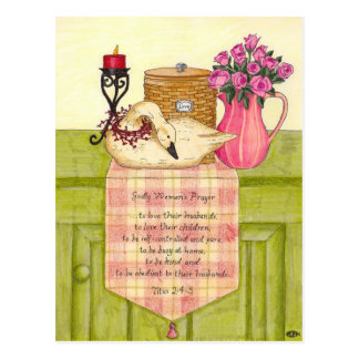 Godly Woman's Prayer Inspirational Postcard
