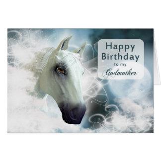 Godmother birthday, Arabian Horse Greeting Card