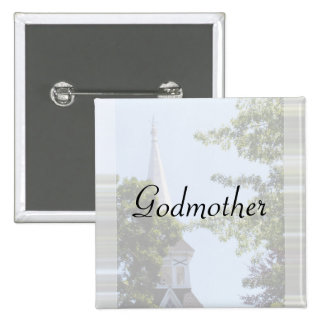 Godmother Button/pin 15 Cm Square Badge