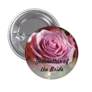 Godmother of the Bride Rose Button