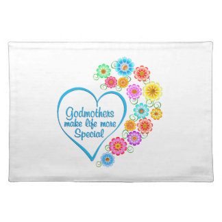 Godmother Special Heart Placemat