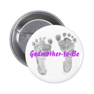 Godmother-to-Be 6 Cm Round Badge