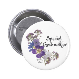 Godmother tribute 6 cm round badge