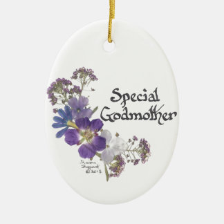 Godmother tribute ceramic ornament
