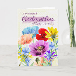 Godmother Birthday Cards