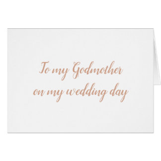 Godmother Wedding Card