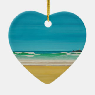 Godrevy Lighthouse (Gwithian) Ceramic Ornament