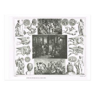 Gods and mythological creatures postcard