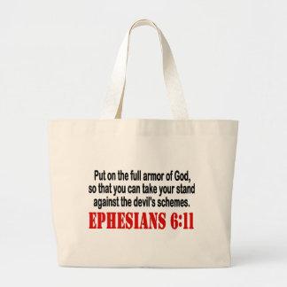 God's Armor Jumbo Tote Bag