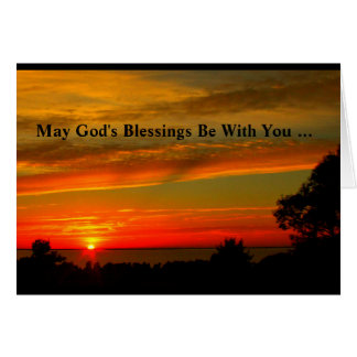God's Blessings Be With You Confirmation Card